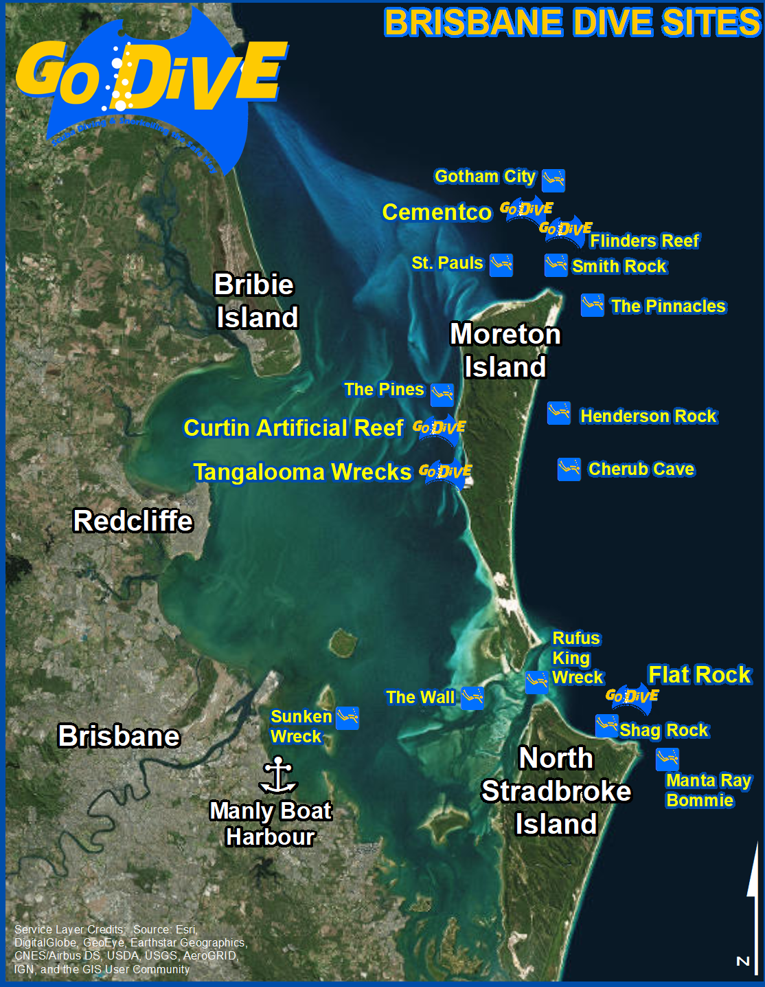 Brisbane Dive Locations