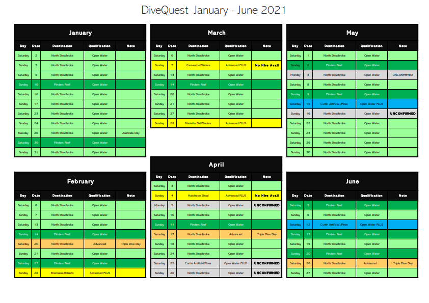 January - June 2021 DiveQuest
